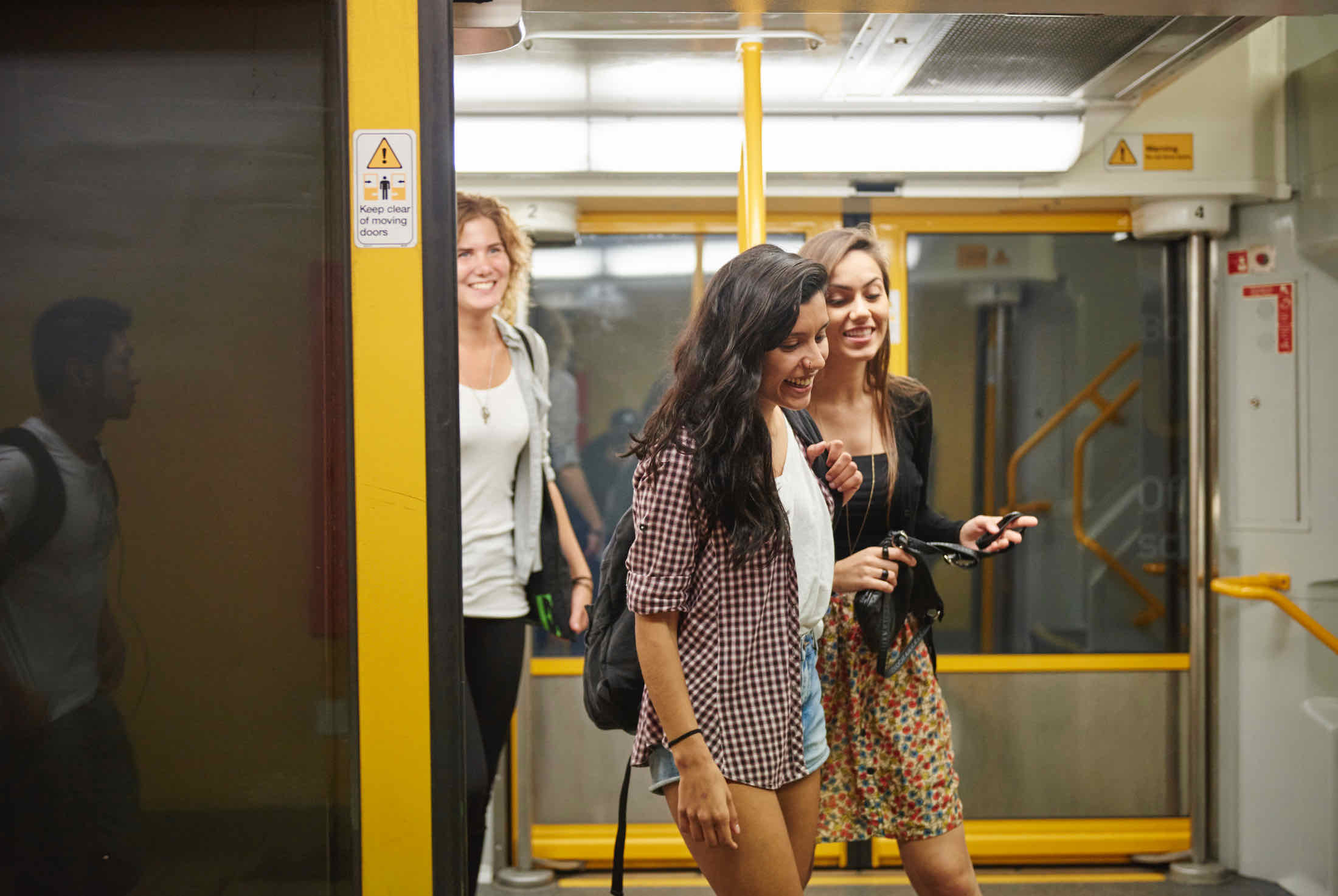 Students getting around Sydney on Sydney Trains.